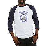 SmartAssStateWithAss Baseball Jersey
