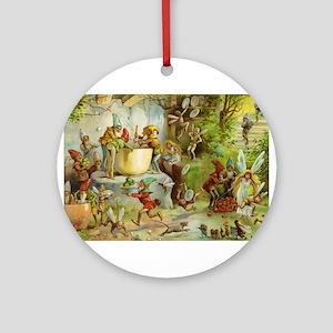 In the Gnome Kitchen Ornament (Round)