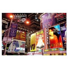 Broadway at Night Poster