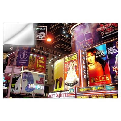 Broadway at Night Wall Decal