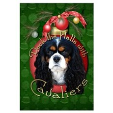 Christmas - Deck the Halls - Cavaliers Large Frame Poster