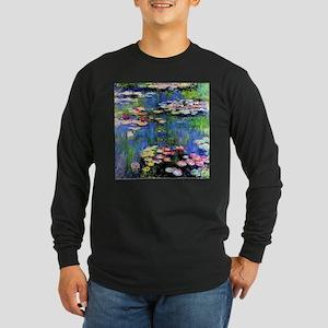 MONET WATERLILLIES Long Sleeve Dark T-Shirt