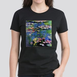 MONET WATERLILLIES Women's Dark T-Shirt