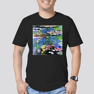 MONET WATERLILLIES Men's Fitted T-Shirt (dark)