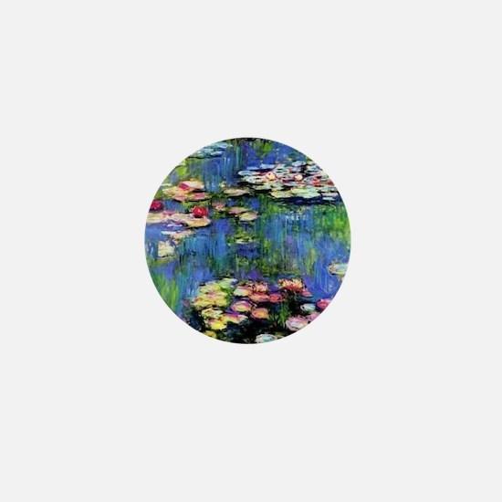 MONET WATERLILLIES Mini Button