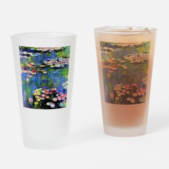 MONET WATERLILLIES Drinking Glass