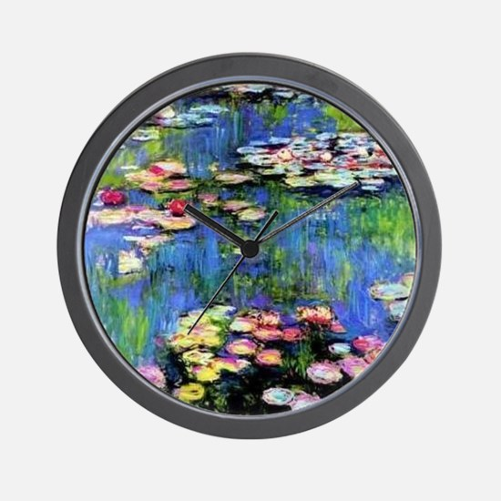 MONET WATERLILLIES Wall Clock