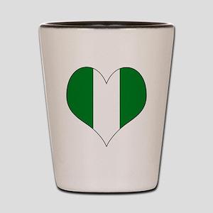 Nigeria Heart Shot Glass