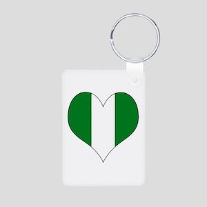 Nigeria Heart Aluminum Photo Keychain