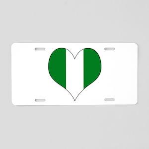 Nigeria Heart Aluminum License Plate