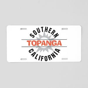 Topanga California Aluminum License Plate