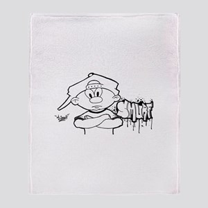Bro Graffiti Throw Blanket