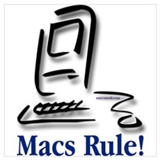 """Macs Rule!"" Framed Print"