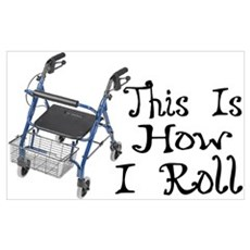 How I Roll Walker Framed Print