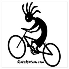 Kokopelli Mountain Biker Poster