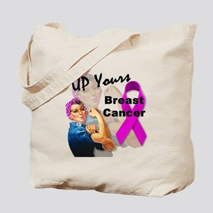 Up Yours Breast Cancer Tote Bag
