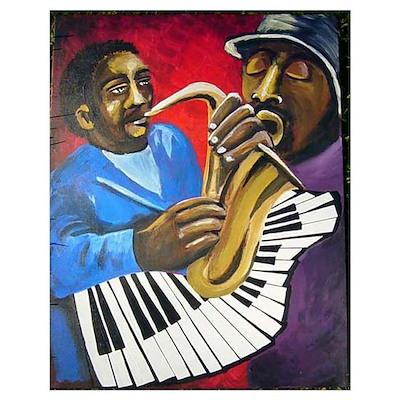 2 Jazz Musicians Poster