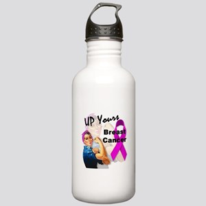 Up Yours Breast Cancer Stainless Water Bottle 1.0L