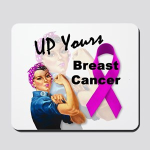 Up Yours Breast Cancer Mousepad