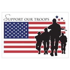 Support our Troops Framed Print