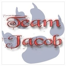 Team Jacob Twilight Gifts Poster