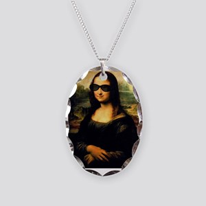 MONA LISA Necklace Oval Charm