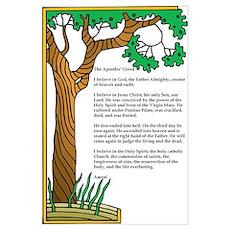 Apostles' Creed Tree of Life Poster