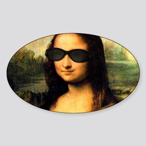 MONA LISA Sticker (Oval)