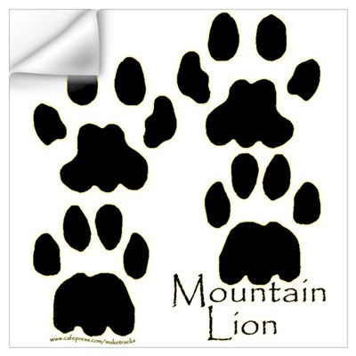 mountain lion tracks wall decal