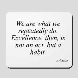 Aristotle quote 104 Mousepad