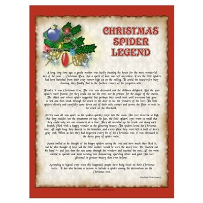 the christmas spider legend poster - The Christmas Spider