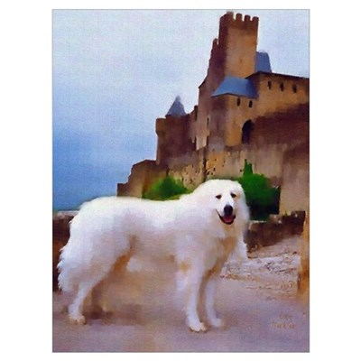 "Great Pyrenees ""Carcassonne"" Canvas Art"