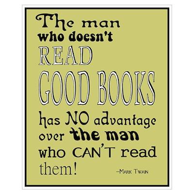 Twain Good Books Yellow Multi Poster