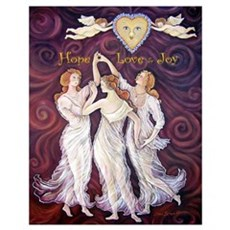 3 Graces with Smiling faces Poster