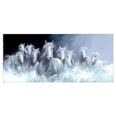 White Horses Free Spirits Poster