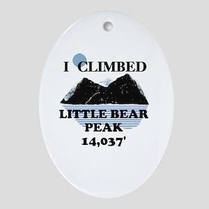 Little Bear Peak Ornament (Oval)