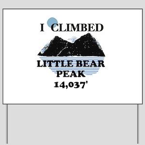 Little Bear Peak Yard Sign