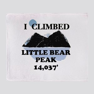 Little Bear Peak Throw Blanket