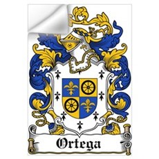 Ortega Family Crest Wall Decal