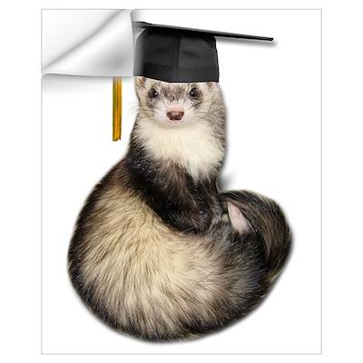 Ferret Graduation Wall Decal