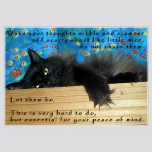 Nibbling Thoughts Black Cat