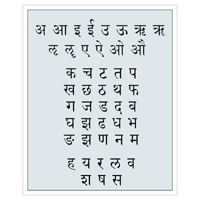 Sanskrit Alphabet Poster