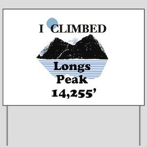 Longs Peak 14,255' Yard Sign