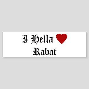 Hella Love Rabat Bumper Sticker