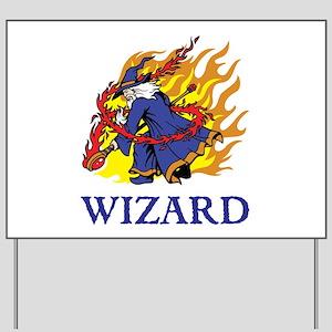 Wizard Yard Sign