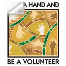 Lend a Hand and Be a Volunteer Wall Decal