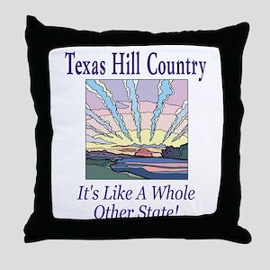 Texas Hill Country - Sun Rays Throw Pillow