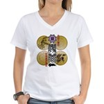 reihu Women's V-Neck T-Shirt