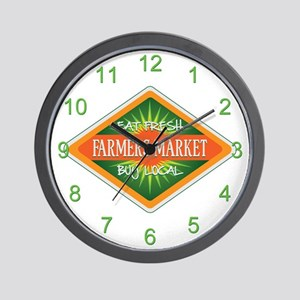 Eat Fresh Farmers Market Wall Clock