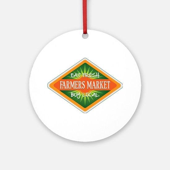 Eat Fresh Farmers Market Ornament (Round)